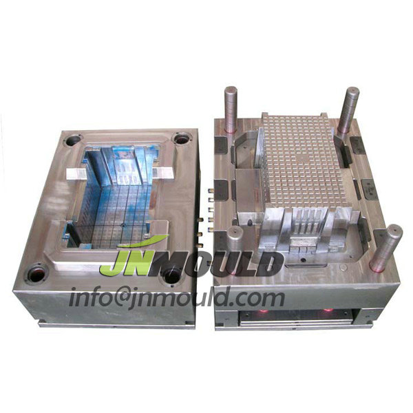 Folding plastic circulation box mould